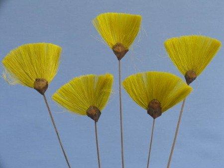 Wachlarzyki sizalowe 3 sztuki kolor żółty